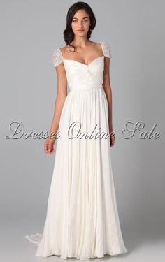 Compra vestidos Hasta el Suelo de Escote Cuadrado y Tejido de chifón Blanco en línea - 4p100 - sku105111226c30