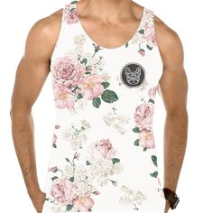 ROSE IN WHITE - GRAPHIC TANK