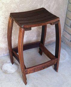 Wine barrel bench