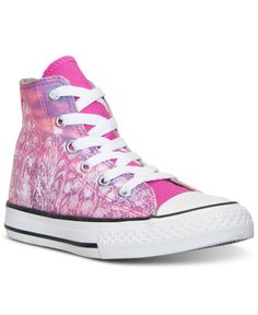 6c0f423333f Converse Little Girls  Chuck Taylor Hi Flower Pot City Casual Sneakers from  Finish Line Casual