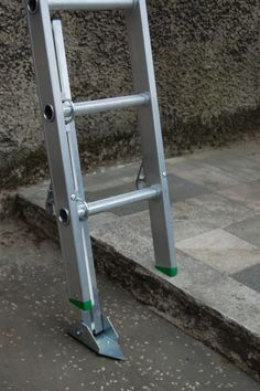 Don't overstretch, use an adjustable leg to position your #ladders correctly for #workingatheight