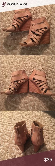 Women's Nine West Wedges Beautiful taupe Nine West 3 inch wedge.. Gorgeous to wear with jeans, shorts, skirts, dresses.. Only worn a few times!! Excellent condition.. 😊 Nine West Shoes Wedges