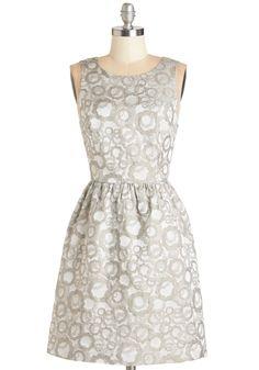 Gray Grey Bridesmaid Dress | $99 | ModCloth | wedding ceremony reception bridesmaids maid of honor silver