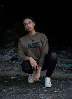 Our new RAVE Sweater in army green 🔊🖤 #rave #raveclothing #ravexclothing #techno