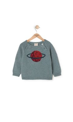 3bd528a7929 Nice Things Mini Saturn Sweater for Baby from Mini Ruby Pull Bebe, Manches  Raglan,