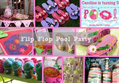 beach ball and flip flop themed birthday party ideas