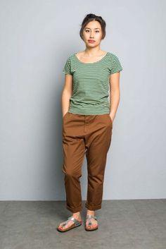 Kitchener items Bridget T-Shirt Green & Sponge Yellow - Tops - Ladies