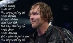 Dean Ambrose This Song Saved My Life- Simple Plan