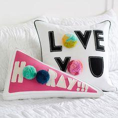 hip hip hooray for cute throw pillows!