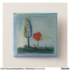 Shop Love, Heart, Valentine Badge Pinback Button created by Fiestalandia. Personalize it with photos & text or purchase as is! Small Paintings, Beautiful Paintings, Original Paintings, Saint Valentine, Valentine Day Gifts, Valentines, Gifts Love, Red Gifts, Badge