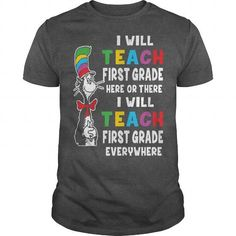 Awesome Tee first grade teacher Shirts & Tees