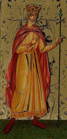 Golden Tarot of the Tsar- King of Wands