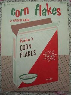 1966 Corn Flakes Marvin Kahn Sheet Music by cindyscozyclutter on Etsy