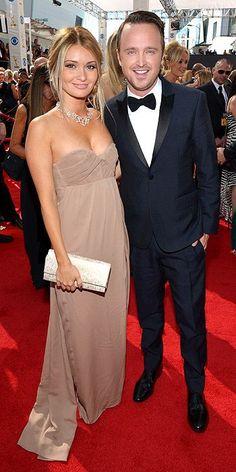 Primetime Emmy Awards 2013 : Lauren Parsekian and Aaron Paul