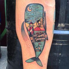 Thanks to David from Barcelona ✨ Done @ #skinfantasiestattoo #ink #tattoo #tattoosnob #tattooitalia #vinil #femaletattoartist #ladytattooers #femaletattoartist #whale