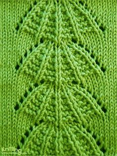 Parasol  Lace Stitch Pattern. With an added row or Garter in a different colour…