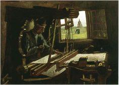 Painting, Oil on Canvas Nuenen: July, 1884 Neue Pinakothek Munich, Germany, Europe  Weaver Near an Open Window Van Gogh Gallery