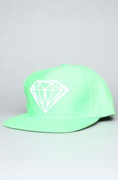 obsessed with hats lately........   The Brilliant Snapback Cap in Kelly Green & White by Diamond Supply Co. at karmaloop.com