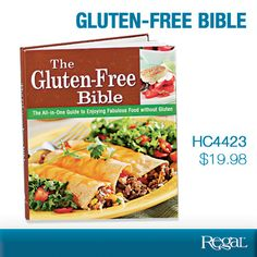 "GLUTEN-FREE BIBLE  A comprehensive guide for preparing and enjoying healthy, delicious foods without gluten! Whether you have celiac disease, gastro intestinal discomfort or just want to feel better, this all-in-one manual has all you need for a gluten-free life. Get hundreds of inexpensive recipes plus valuable shopping tips. Discover the best foods to eat and which to avoid. Loads of colour photos. 256 pages. 8-1/4""W x 9-1/2""L Product Number HC4423"