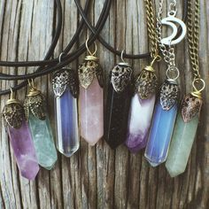 Stone Pendant Necklaces - #Jewelry Crystal Rose Quartz Amethyst Opal Fluorite�