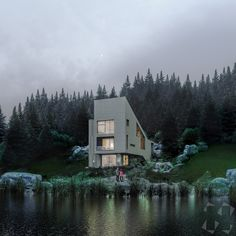 A small, personal house project. Meant to be built somewhere in the woods, near a lake, someday.