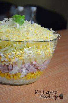 Warstwowa sałatka z szynką i ananasem wpadła mi w oko już jakiś czas temu, gdy przeglądałam bloga Bernadetty. Koniecznie musicie ją wypróbować, bo sałatka ta jest przepyszna :) Na pewno będzie hitem na nie jednej imprezie :) Warstwowa sałatka z szynką i ananasem – Składniki: 6 jajek 1 słoiczek selera konserwowego (150g po odsączeniu) 300g […]
