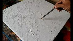 How to texture canvas / Texturing canvas with GESSO for abstract paintin...