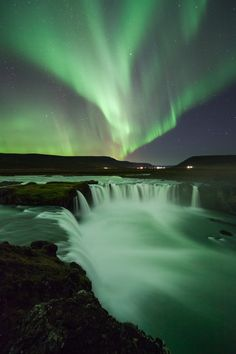 Magical Aurora over Godafoss, North Iceland by Lisa Bettany on 500px