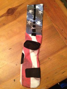 Flag Custom Nike Elite Socks from S & S Custom!
