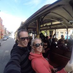 NEW VLOG POST!! Now just posted our new adventure hanging off the cable car in San Francisco link in bio.  Next Stop - Hollywood   Fun Facts: They let you hang off the cable car.  #travel #traveltheworld #exploretheworld #travelgram #adventure #honeymoon #marriedcouple #explore #passport #sanfran #hayzieadventures #travelblog #followmeto #travelvlog #travelblogger #youtube #gopro #goproeveryday #sanfranciscocablecar #cablecar #unlimitedsanfrancisco @gopro #goprotravel #goproeveryday…