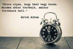 Mitch Albom bölcsessége az időzítésről. A kép forrása: Tudatos életmód # Facebook