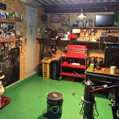 Garage Cafe, Garage Shop, Garage House, Garage Workshop, Garage Doors, Paradise Garage, Man Shed, Man Cave Garage, Motorcycle Garage