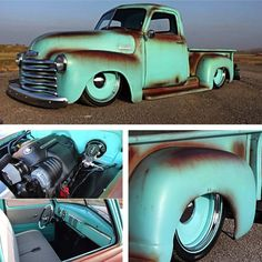 Killer Custom 1957 Chevy 3100 Pick Up. If you are into top shelf Hot rodding this Chevy Truck pretty much defines it. 54 Chevy Truck, Chevy 3100, Classic Chevy Trucks, Chevy Pickups, Lifted Chevy, Chevy Luv, Classic Cars, Hot Rod Trucks, Gmc Trucks