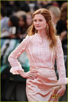 Bonnie Wright- I grew up watching her play Ginnie in Harry Potter. I'm not sure what her politics are or anything, but she's very pretty.
