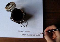 how to make black walnut ink