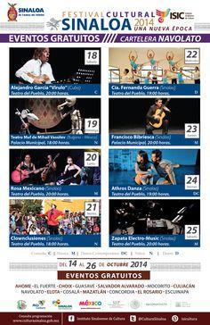 Festival Cultural Sinaloa 2014 Una Nueva Época, del 14 al 26 de Octubre en #Navolato