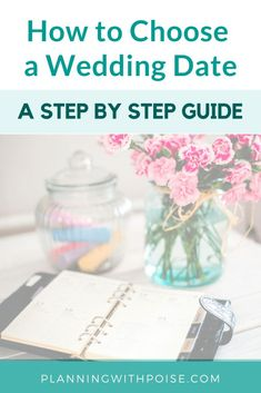 Wedding Checklist how to choose a wedding date - a step by step guide - How to choose a wedding date: three things to consider PLUS a step-by-step guide! How to choose a wedding date made super easy! Steps In Planning, Wedding Planning On A Budget, Budget Wedding, Wedding Tips, Wedding Events, Wedding Planner, Wedding Day, Planning App, Dream Wedding