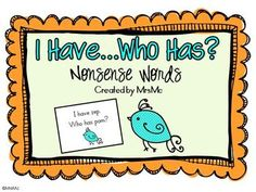 Freebie! Nonsense Word I Have...Who Has?