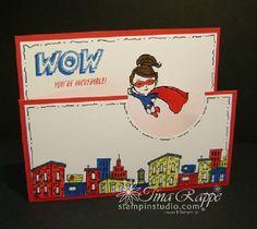 Stampin' Up! Everyday Hero stamp set, Fun Fold Card, Dutch Door Fold, Stampin' Studio