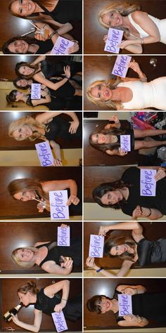 Before & after mugshots for your bachelorette party!