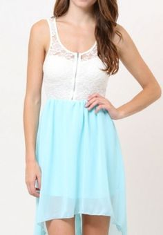Aqua High Low Dress