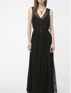 There is nowhere this black chiffon maxi can't go. A steal at $70 - make sure it's in your closet, like now.     Photo: Courtesy of urbanoutfitters.com