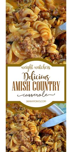 Delicious Amish Country Casserole - Food and drink - Dinner Amish Recipes, Beef Recipes, Cooking Recipes, Cooking Tips, Yummy Recipes, Beef Meals, Cooking Steak, Fast Recipes, Cooking Games