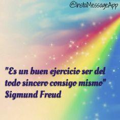 Aprender a ser sincero contigo mismo, en donde buscas lo que quieres hacer, lo que esperas de tu vida, lo debes de mejorar, analiza tu errores y lo que aprendiste de ellos. Pero más que nada, sé sincero en AMARTE a por la hermosa persona que te has convertido. #buenosdias  #frasedeldia #Freud #amate #sincerocontigomismo #analizate #aprendiendo #felizdia