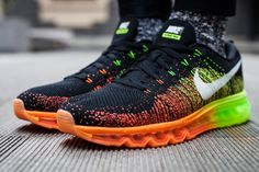 Nike Flyknit Air Max   Atomic Orange   Volt   Electric Green   Black