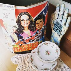 Dukes of Hazzard vintage trash can, and beautiful floral print dishes! More Highway 127 World's Longest Yard Sale items getting packed. Come see us August 3-7, 2016 1018 S. MAIN Street, Crossville, TN Look for the JUNKTASTIC sign