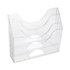 Rubbermaid #Optimizers #Wall-Mounted Multi-Purpose Organizer, 3-Pocket, Clear (96050ROS). This handy storage bin provides a quick and easy way to add extra storag...