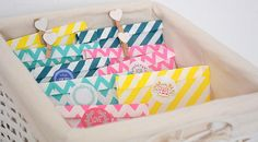 colourful party favor bags