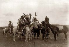 Women Of The Old West | An old picture of Sioux Indian Warriors in a Parley. It was created in ...