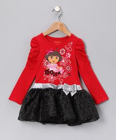 Take a look at this Red & Black 'Dora' Dress - Infant, Toddler & Girls on zulily today!